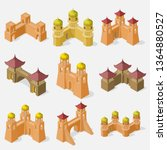 set of fortress buildings... | Shutterstock .eps vector #1364880527