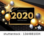 happy new 2020 year  shining... | Shutterstock .eps vector #1364881034