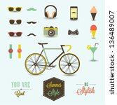 hipster summer collection | Shutterstock .eps vector #136489007