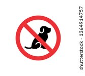 no dogs allowed icon sign.... | Shutterstock .eps vector #1364914757