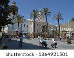 facade of cadiz city hall...   Shutterstock . vector #1364921501