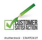 customer satisfaction checkmark ... | Shutterstock . vector #136492619