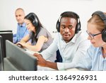 group of students in a language ... | Shutterstock . vector #1364926931