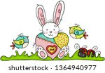 easter bunny with heart...   Shutterstock .eps vector #1364940977