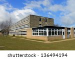 exterior of english secondary... | Shutterstock . vector #136494194