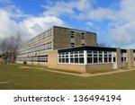 exterior of english secondary... | Shutterstock . vector #136494194
