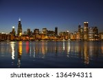 Partial View Chicago Skyline A...