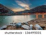 valley sunset   Shutterstock . vector #136495031