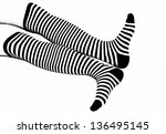 woman legs in back and white...   Shutterstock . vector #136495145
