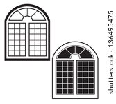 Window Silhouette Outline Vector