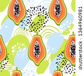 seamless fashion pattern with... | Shutterstock .eps vector #1364960981