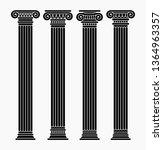 vector set of four classical... | Shutterstock .eps vector #1364963357