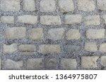 an old stoneblock pavement...   Shutterstock . vector #1364975807
