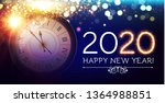 happy hew 2020 year  clock ... | Shutterstock .eps vector #1364988851