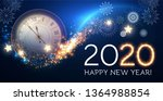 happy hew 2020 year  clock ... | Shutterstock .eps vector #1364988854