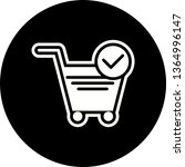verified cart items icon design  | Shutterstock .eps vector #1364996147