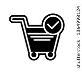 verified cart items icon design  | Shutterstock .eps vector #1364998124