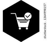 verified cart items icon design  | Shutterstock .eps vector #1364998157