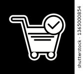verified cart items icon design  | Shutterstock .eps vector #1365000854
