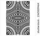 tribal tattoo design creative... | Shutterstock .eps vector #1365009464