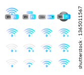 set of network symbol wifi icon ...