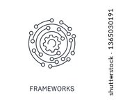 framework. vector linear icon. | Shutterstock .eps vector #1365030191
