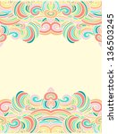 Seamless Wavy Colored Border...