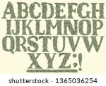 deciduous alphabet. design set. ... | Shutterstock .eps vector #1365036254