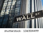 Sign For Wall Street In New...