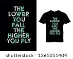 the lower you fall the higher... | Shutterstock .eps vector #1365051404