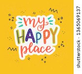 multicolour hand drawn... | Shutterstock .eps vector #1365069137