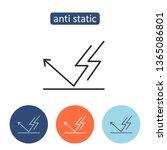 anti static material outline... | Shutterstock .eps vector #1365086801