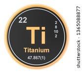 titanium ti chemical element.... | Shutterstock . vector #1365088877