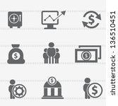 finance icon set vector | Shutterstock .eps vector #136510451
