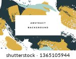 hand drawn abstract background... | Shutterstock .eps vector #1365105944