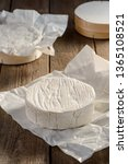 Camembert Cheese Wheel On A...