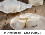 Fresh Camembert Cheese On A...