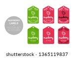 raspberry fruit natural store...   Shutterstock .eps vector #1365119837