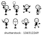 stick figure people with...   Shutterstock .eps vector #136512269