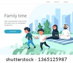 arabic family spend time with... | Shutterstock .eps vector #1365125987