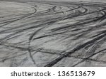 background with tire marks on... | Shutterstock . vector #136513679