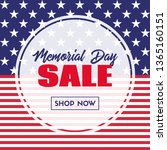 memorial day sale banner.... | Shutterstock .eps vector #1365160151