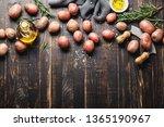 raw organic potatoes ... | Shutterstock . vector #1365190967