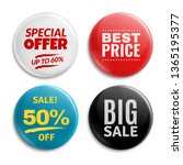 sales pin badges. circled... | Shutterstock . vector #1365195377
