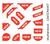 new ribbons. corner banner  new ...   Shutterstock . vector #1365196547
