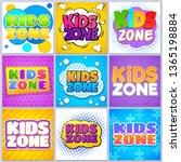 kids zone banners. children... | Shutterstock . vector #1365198884