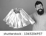 man with beard and mustache... | Shutterstock . vector #1365206957