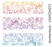 happy easter. vector pattern... | Shutterstock .eps vector #1365234071