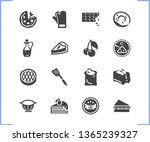 dessert icon set and apple pie...