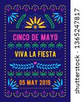 cinco de mayo template. mexican ... | Shutterstock .eps vector #1365247817